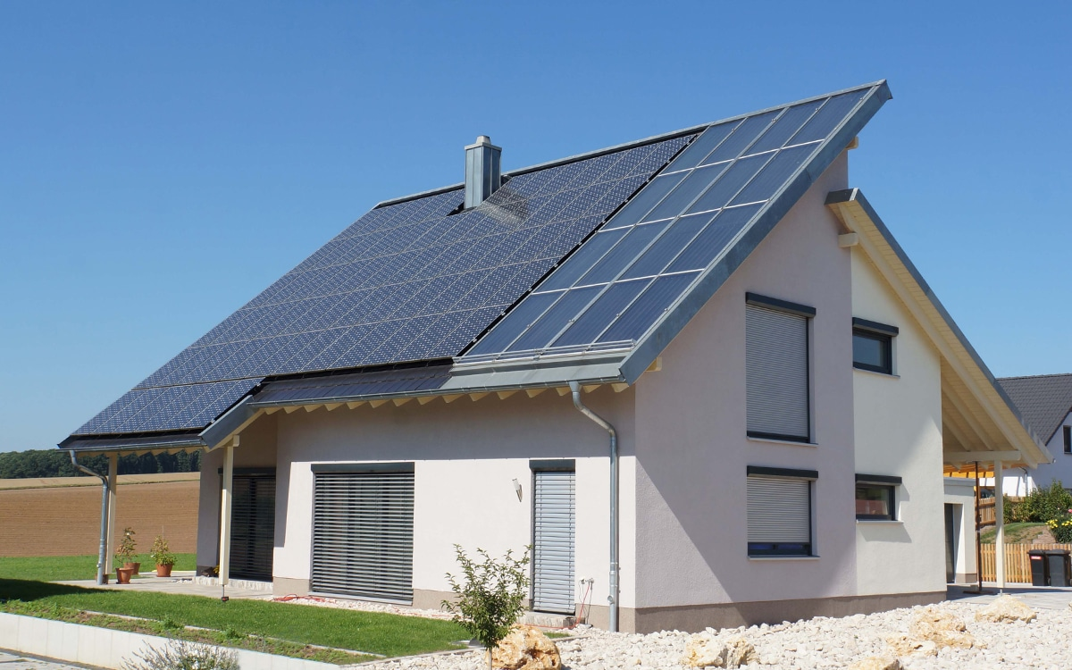 Solaranlage-Einfamilienhaus